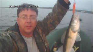 удачная рыбалка на судака . финский залив.