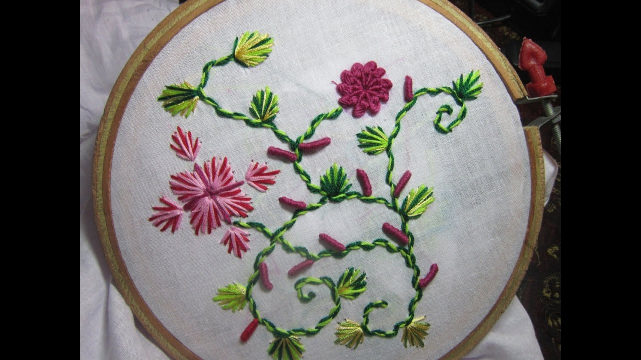 Hand embroidery designs stitches stitch and