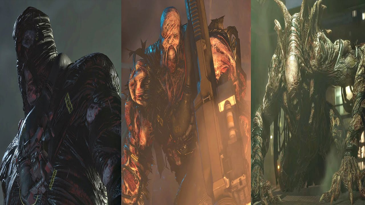 Resident Evil 3 Remake All Nemesis Transformations All Nemesis