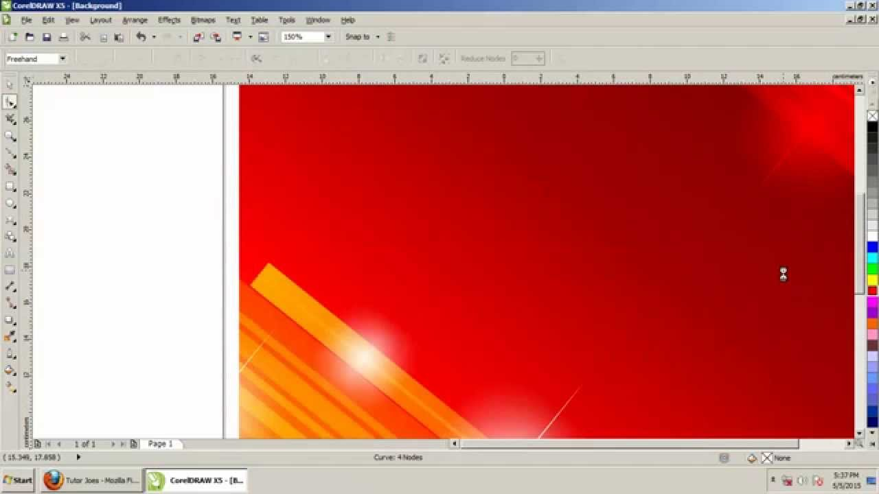 How To Create Background Design In Coreldraw X5 Tamil Part 2 Youtube