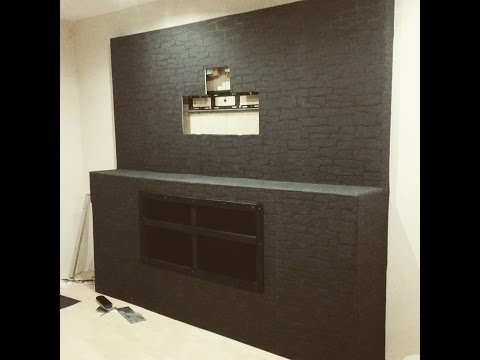 fernseh wand selber bauen youtube. Black Bedroom Furniture Sets. Home Design Ideas