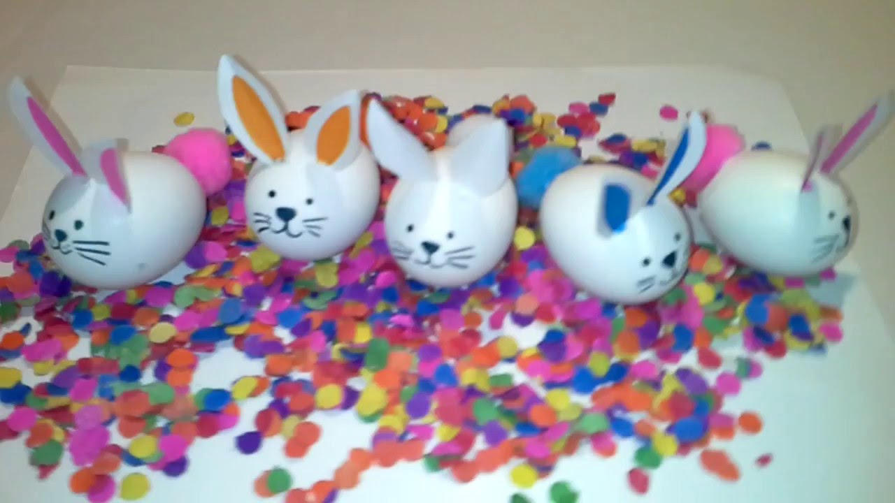 huevos confetti en forma de conejo/ confetti eggs/easter bunny ...
