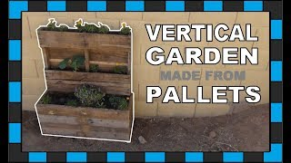 How To Build A Vertical Garden Out Of An Old Pallet