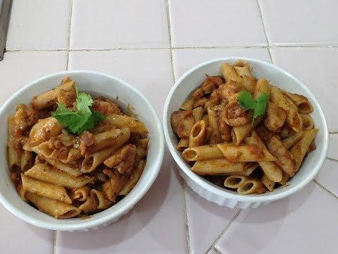 Chicken Pasta In Tamil-How To Make Chicken Pasta