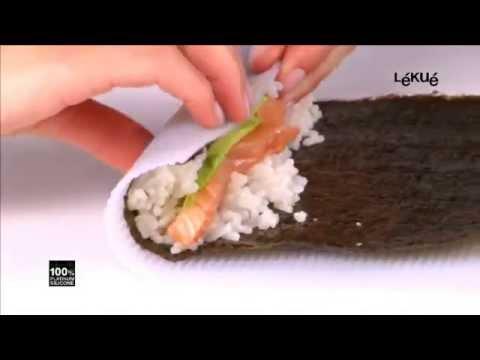 makisu tapis sushis en silicone lekue chez bienmanger com