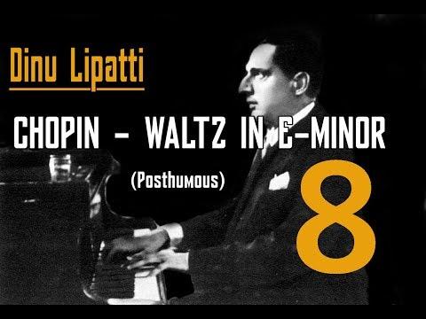 Dinu Lipatti - Chopin Waltz in E Minor, Posthumous