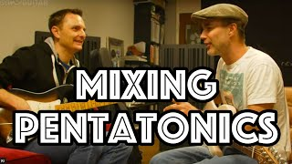 Lee learning to Mix Major & Minor Pentatonics (Captains Privates Lesson 8)