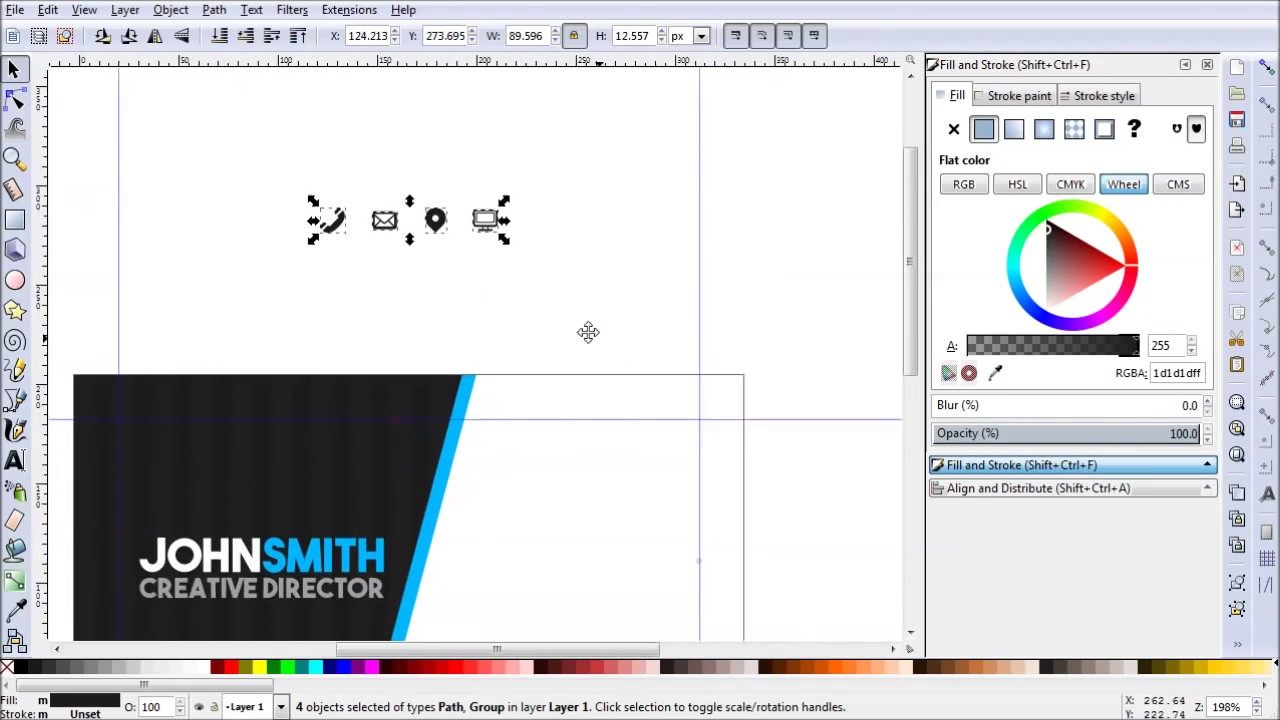 Modern Business Card Design in Inkscape - YouTube