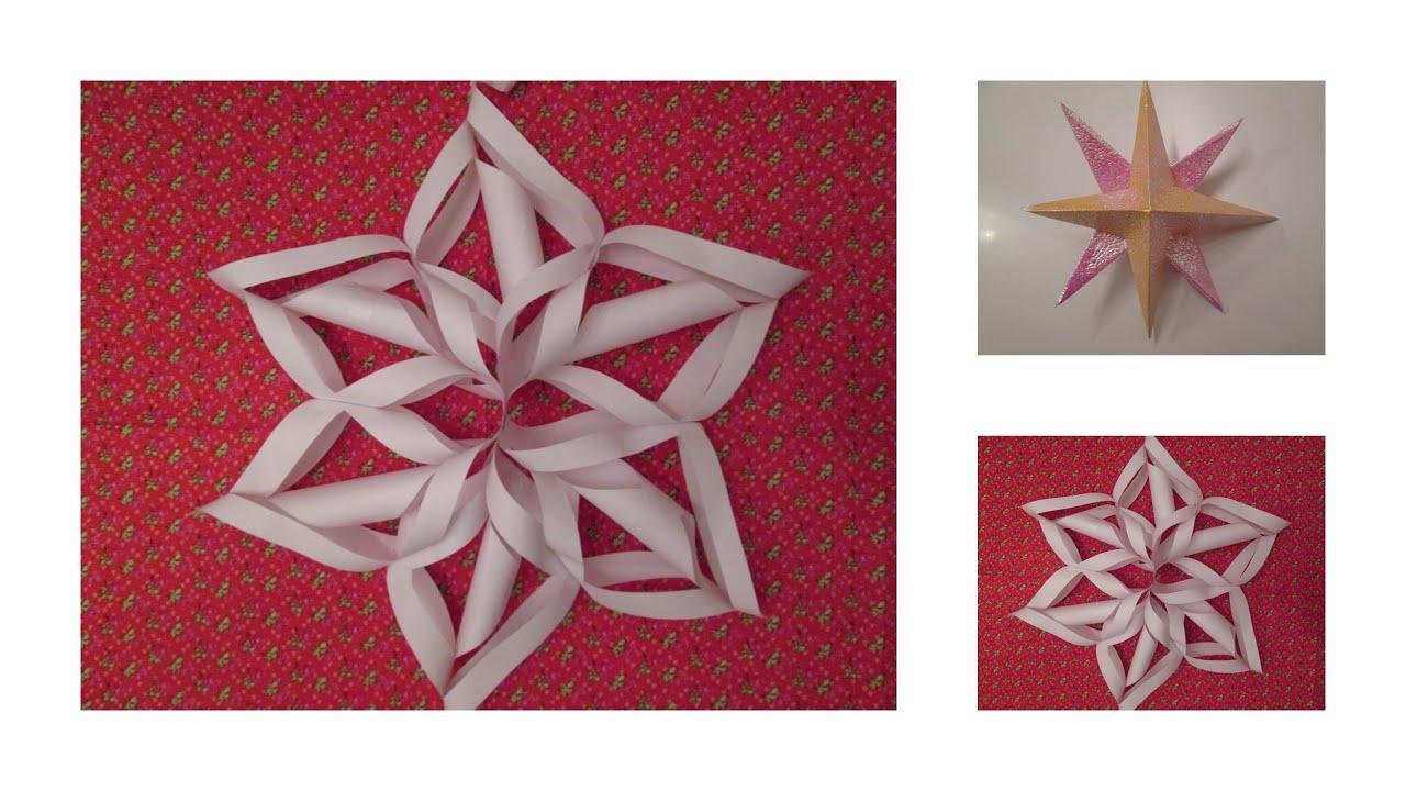 diy schneeflocke weihnachtsstern aus papier by isi. Black Bedroom Furniture Sets. Home Design Ideas