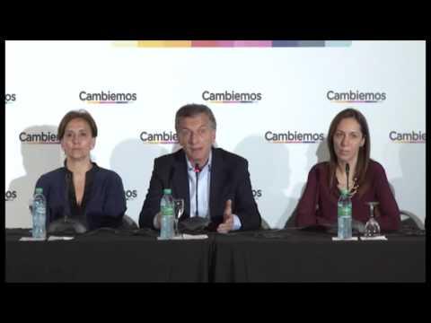 Cambiemos - Conferencia de prensa después de las elecciones | Mauricio Macri