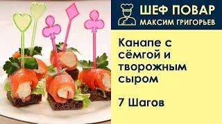 Канапе с сёмгой и творожным сыром . Рецепт от шеф повара Максима Григорьева
