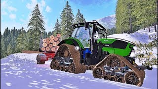 Farming simulator 2017 -  Forestry in winter time