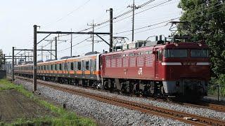 【配給輸送】 EF81-140+武蔵野線E231系8両 行田~吹上通過