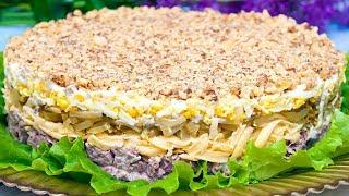 """Салат с говядиной """"Принц"""", рецепт вкусного салата на Новый год 2019!"""