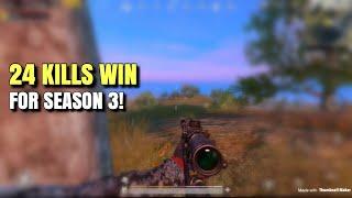 Season 3 Gameplay | PUBG Mobile | FPP 24 Kills - Solo vs Squads!