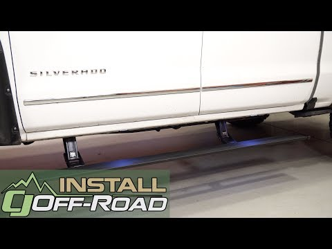 Lifted 2017 Silverado is easier to get into after a AMP Research Plug-N-Play PowerStep Install
