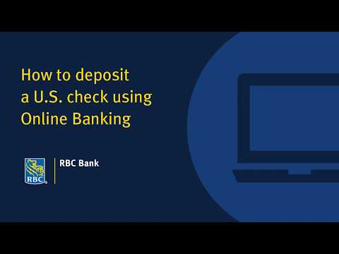 How To Deposit A U.S. Check Using Online Banking