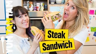 Steak-Sandwich // Butterbrot Deluxe // #yumtamtam
