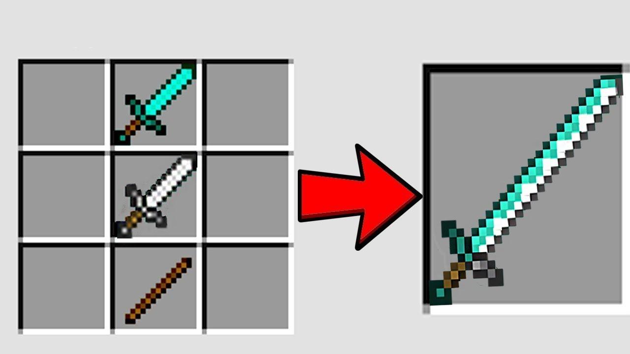 как сделать в майнкрафте железный меч #9