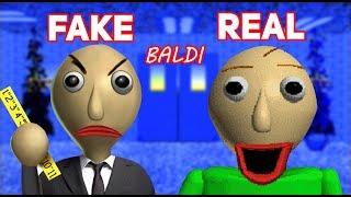 Fake Baldi vs Real Baldi!!! (Can you tell the difference?) | Baldi