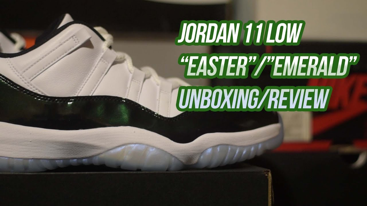 Jordan 11 Easter Emerald  Unboxing and Review - YouTube 5fb700bee