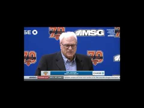Phil Jackson Knicks Press Conference April 14th 2017