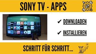 Sony Smart TV Apps installieren. GANZ EINFACH!!!