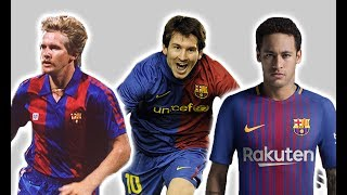 Barcelona's Football Kit History/Evolution | Then And Now