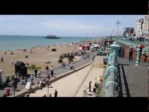 Brighton Beach Uk On A Summer Day