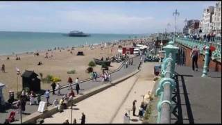 Brighton beach on a summer day