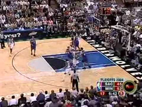 Kevin Garnett: 2004 vs Kings Playoffs GM7 ~Classic Game~