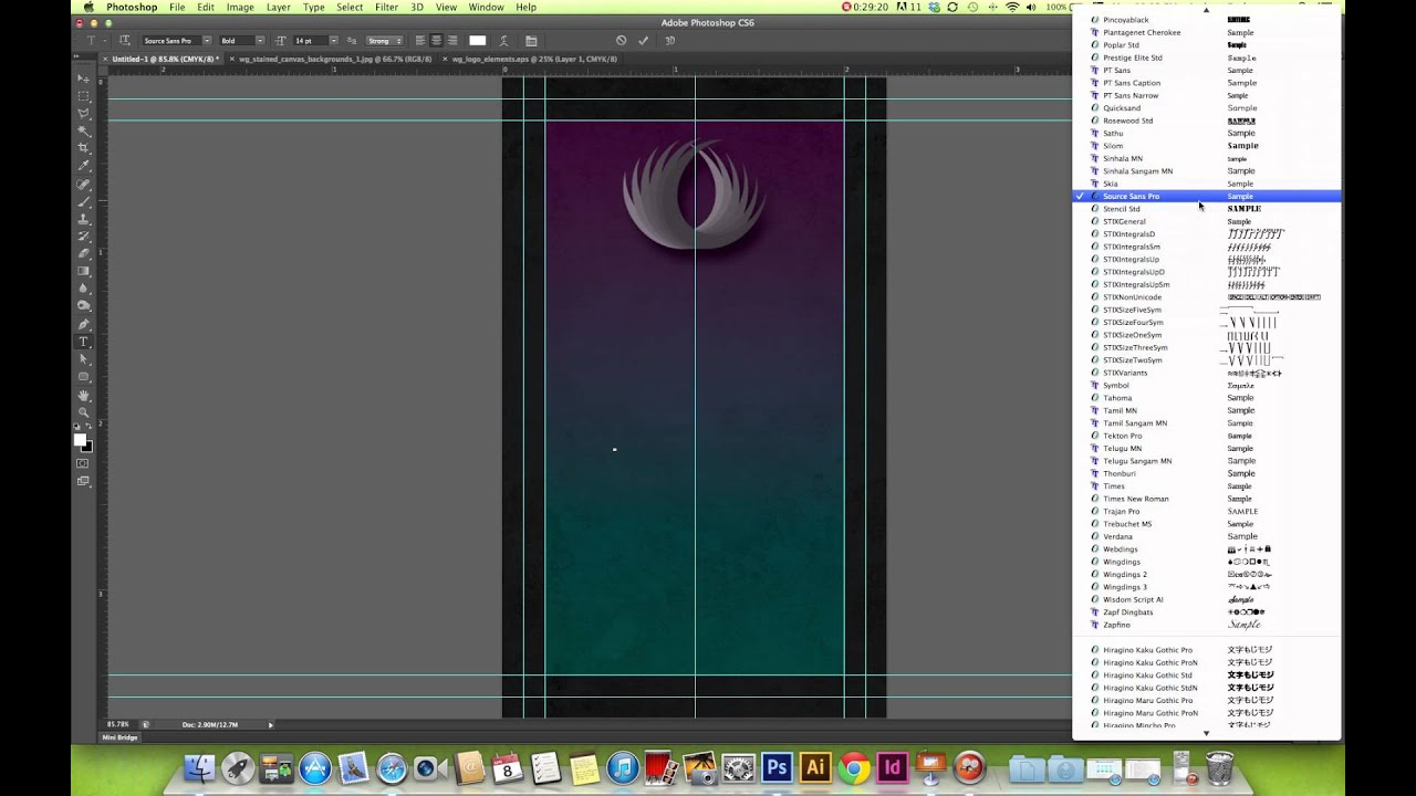 How To Create a Business Card in Photoshop - YouTube