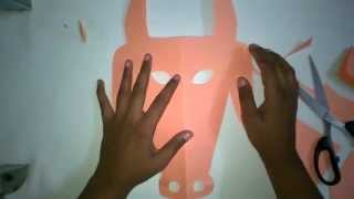How to Make DIY Paper Mask for Kids (COW MASK)