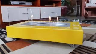 Lareira a Álcool 92º Classe A Amarela Oficial Queimador 40cm