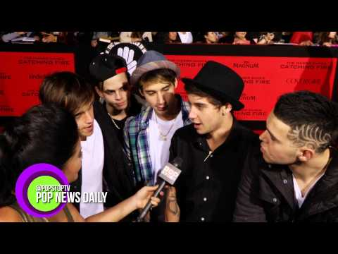 Jai Brooks Talks Ariana Grande Break Up At Hunger Games: Catching Fire Red Carpet!