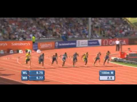 Nesta Carter 9.99 Final IAAF Diamond League Birmingham 2013