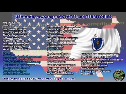 Massachusetts State Folk Song MASSACHUSETTS with music, vocal and lyrics