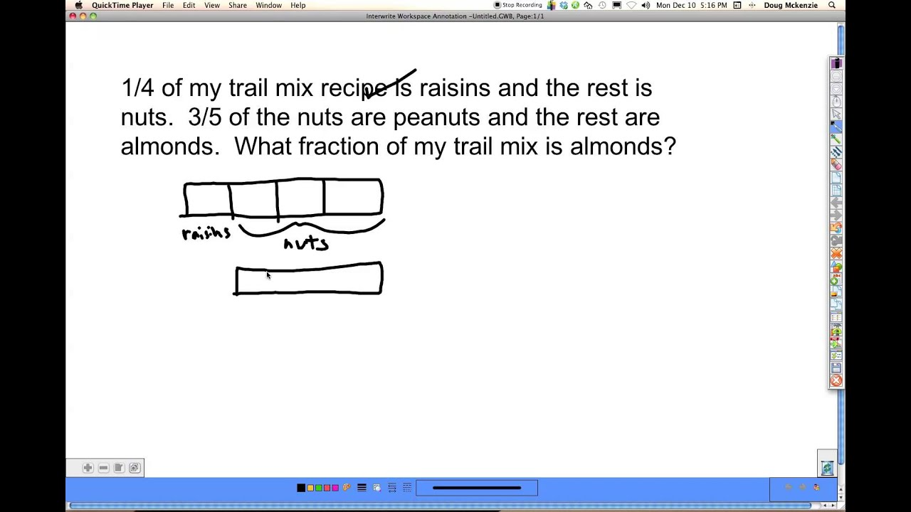 medium resolution of Difficult Fraction Word Problems (video lessons