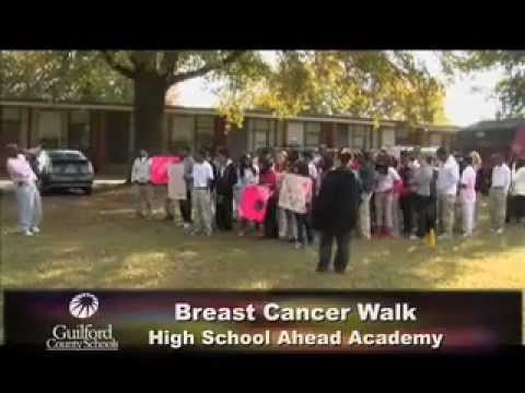 Breast Cancer Walk at High School Ahead Academy