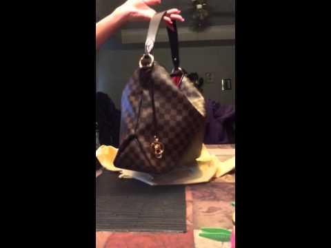 Louis Vuitton Delightful MM NM damier - YouTube 4ae45b4364a2