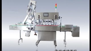 Automatic large diameter lid capping machine for beverage bottle cap screwing device