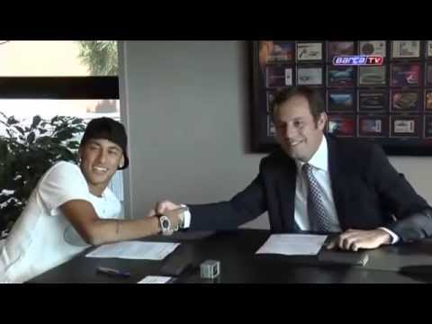 Neymar TV - Neymar assina com o Barcelona até 2018 - 03/06/2013 Travel Video