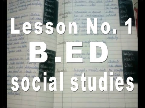 B.ed Lesson Plan Of SST|| B.ed Lesson Plan In Social Science || Social Studies Lesson Plans