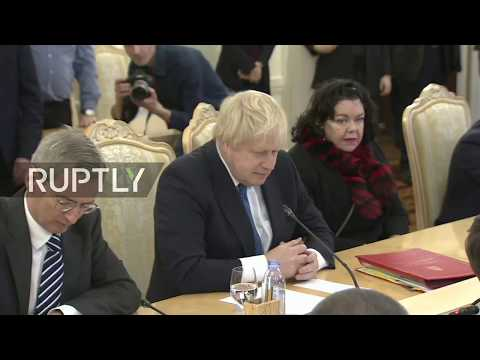 LIVE: Lavrov meets British counterpart Boris Johnson: protocol