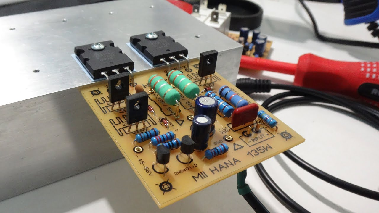 Test Power Amplifier 135w Youtube Audio Amplifierwith Pcb