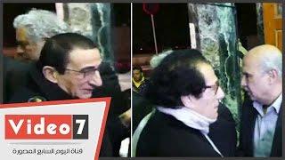 نبيل الحلفاوى وفاروق حسنى وعبد المنعم عمارة فى عزاء الشاعر سيد حجاب