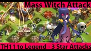 Clash Of Clans - TH11 To Legend - Our First Legend 3 Star Attacks vs TH11