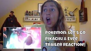 Pokemon: Let's Go Pikachu! & Pokemon: Let's Go Evee Trailer REACTION!!