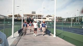 Novak Djokovic signs Autographs at Indian Wells