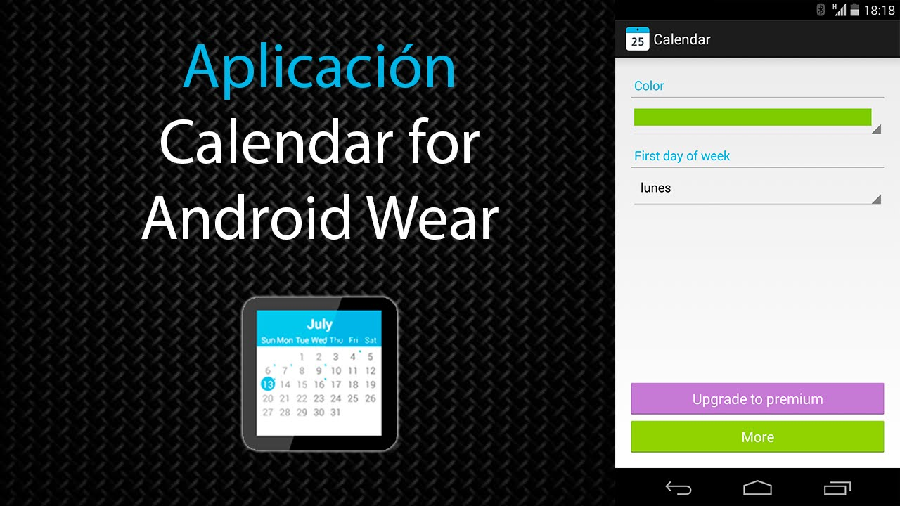 [Aplicación] Calendar For Android Wear